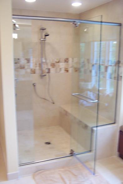 Semi-Frameless Glass Shower Enclosure - Noble Shower Doors