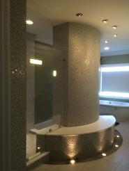 Huge Walk-In Shower w Frameless Glass Panels - Noble Shower Doors