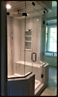 Beautiful Large Steam Glass Shower Enclosure - Noble Shower Doors