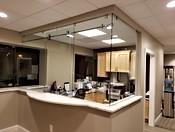 Frameless Glass Desk Slider
