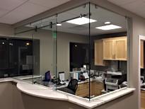 Frameless Glass Desk Sliding Door