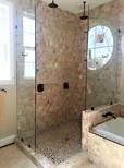 Two Frameless Glass Spray Panels - Noble Shower Doors