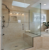 Large Frameless Glass Shower Corner Enclosure - Noble Shower Doors