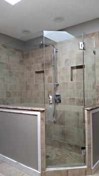 Large Neo-Angle Frameless Glass Shower Enclosure - Noble Shower Doors