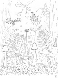 Colouring Page Forest
