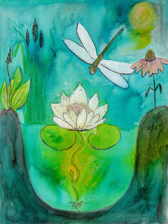 Dragonfly & Lotus