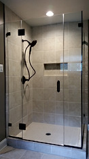 Frameless Glass Alcove Shower Enclosure - Noble Shower Doors