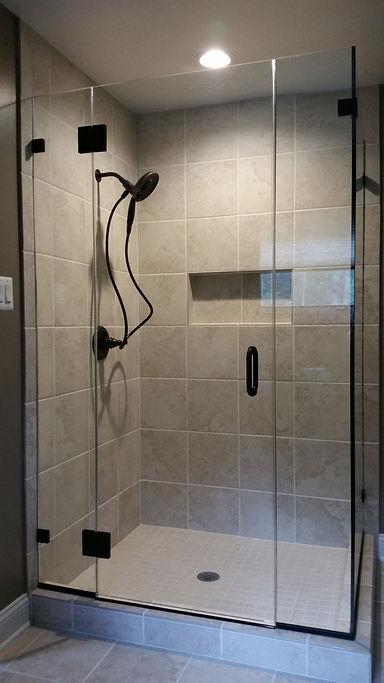 Frameless Glass Corner Shower Enclosure