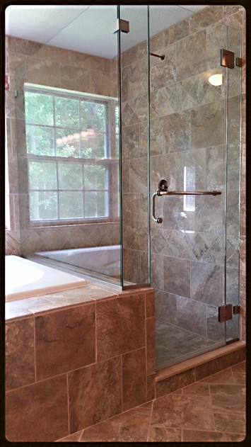 Glass-to-Glass Hinged Corner Glass Shower Enclosure - Noble Shower Doors