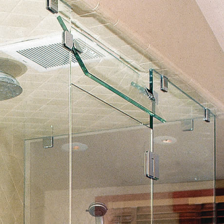 Frameless Glass Transom - Steam Unit