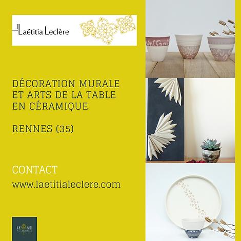 décoration murale en céramique, art de la table en céramique, made in Rennes