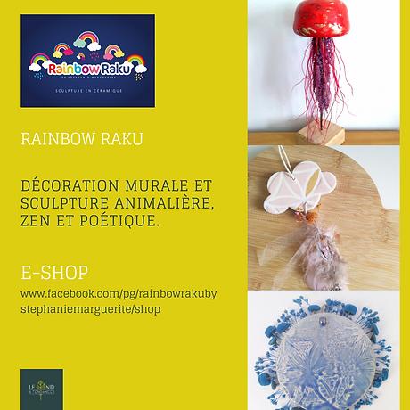 Rainbow Raku by Stéphanie Marguerite