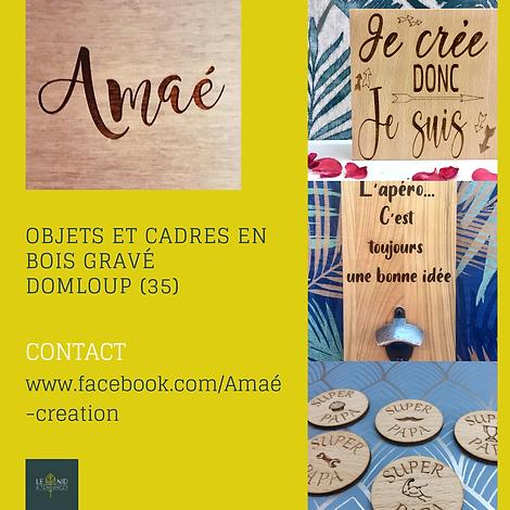 gravure sur bois, objets en bois gravé, cadres en bois, made in Rennes
