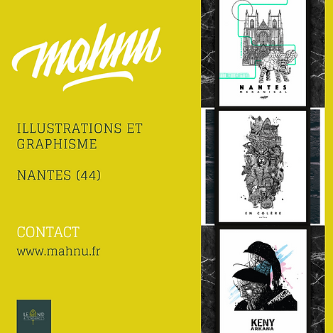 mahnu, illustrations et graphisme, made in Nantes