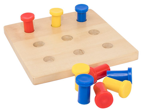 Board with 9 Pegs