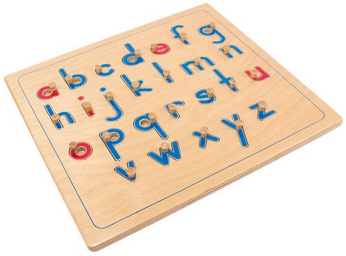 Knobbed Alphabet Puzzle, lowercase