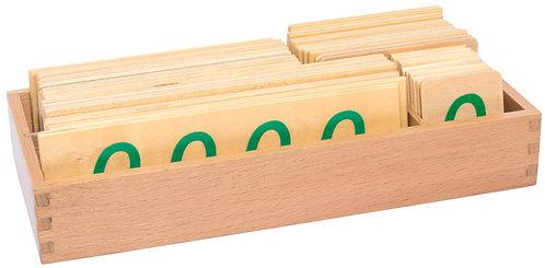Small Wooden Decimal Symbols with Zeros