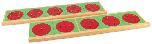 Metal Fraction Circles with Wood Trays