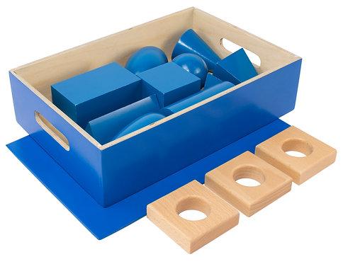 Geometric Solids in Blue Box