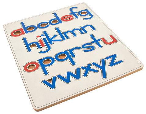 Knobless Alphabet Puzzle, lowercase
