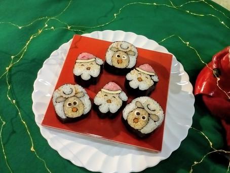 巻き寿司でメリークリスマス