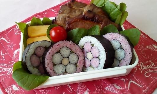 キャラ弁より簡単な巻き寿司弁当
