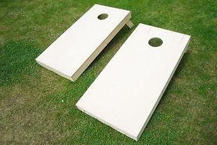 Wooden Cornhole Boards on Grass.jpg