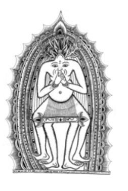 A graphic drawn by the medicine man for Liz from the book Eat Pray Love