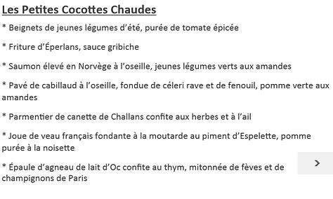 repas de groupes - La table du Luxembour