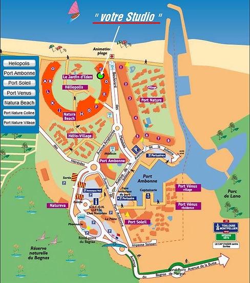 Cap d'Agde Location Naturiste - Plan du