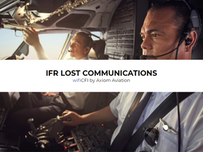 IFR LOST COMMUNICATION RULES