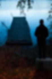 traveler, portrait, barcelonian, lake, autumn, sweden