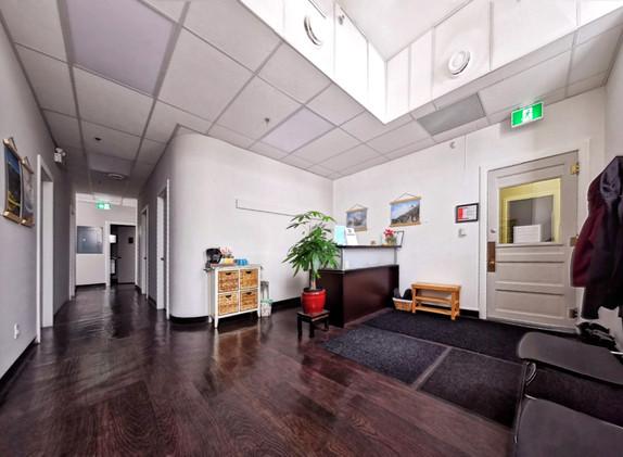 Private office reception area