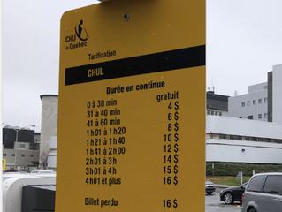 Les frais de stationnement des hôpitaux MOINS CHERS dès le printemps 2020