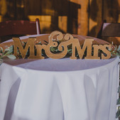 Mr and Mrs Block Sign- $5