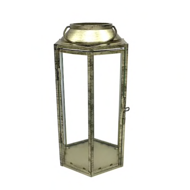 10.5 inch Gold Lantern