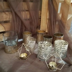 Gold Candle Holders Variety-$20