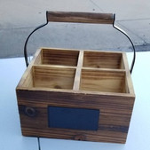 Wooden 4 slot Crate- $3 (QTY 2)