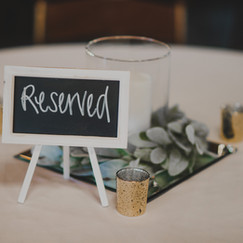 Small White Chalkboard Sign