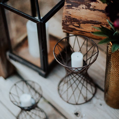 Wire Candle Holders