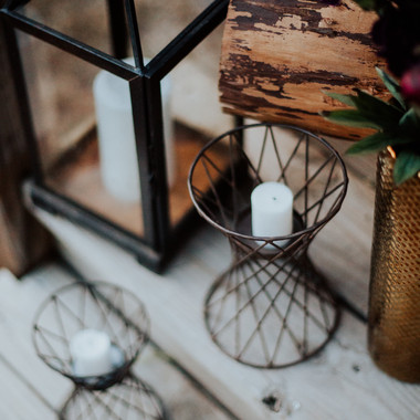 Wire Candle Holders- $5 for both