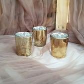 Gold Mercury Glass Tealight Holders-$.50 ea (Qty-60)