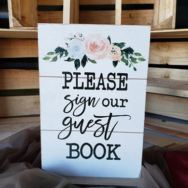 Floral Guest Book Sign- $5