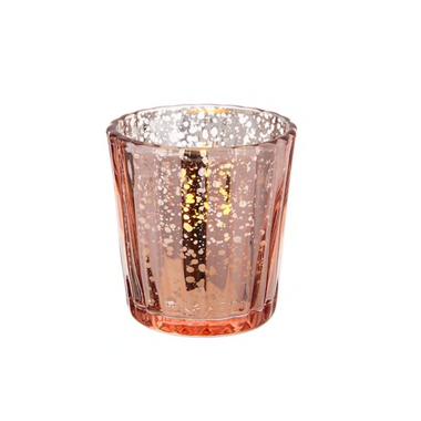 Pink Mercury Glass Tea Light Candle Holder- $.50 each QTY 60
