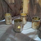 Medium Gold Mercury Candle Holders $2 ea (Qty-4)