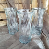 Clear Glass 9 in Vases -$1 (QTY-25)