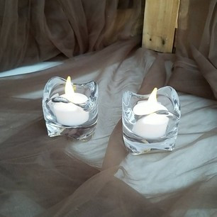 Clear Glass Tea Light Holders