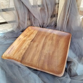 Wooden Square Plate - $4 (QTY 2)