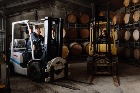 Michael & Susan on Forklifts