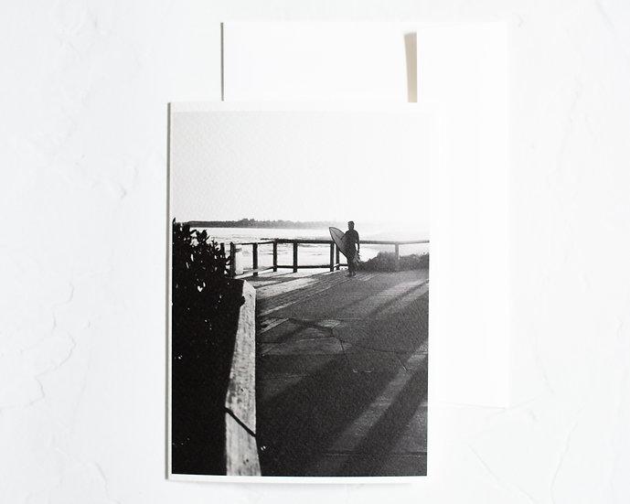 Sun shadows blank card
